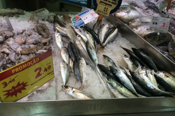 Portugese fish in the grocery store