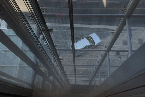 This elevator gave a few people vertigo!