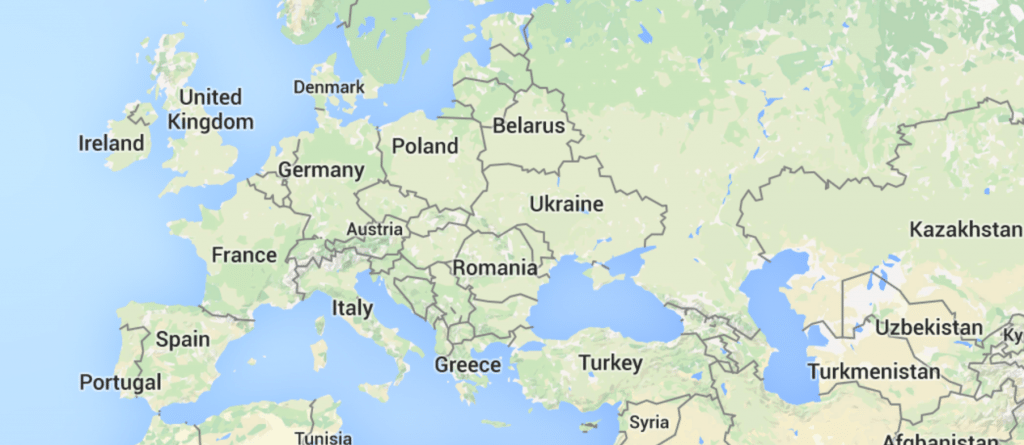 Blank map of Europe -- for now!